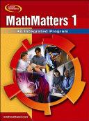 MathMatters 1  An Integrated Program  Student Edition PDF