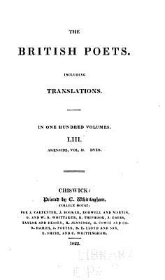The Poems of Mark Akenside  M D