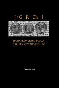 Journal of Greco Roman Christianity and Judaism  Volume 14 PDF