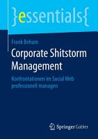 Corporate Shitstorm Management PDF