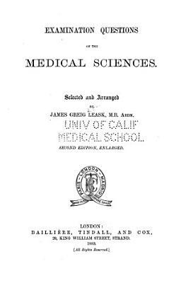 Examination Questions on the Medical Sciences PDF