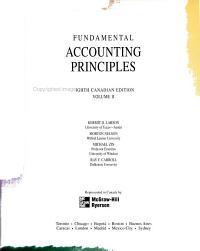 Fundamental Accounting Principles  Canadian