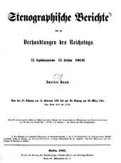 Verhandlungen des Reichstags: Band 139