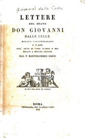 Lettere del beato Don Giovanni dalle Celle: monaco vallombrosano