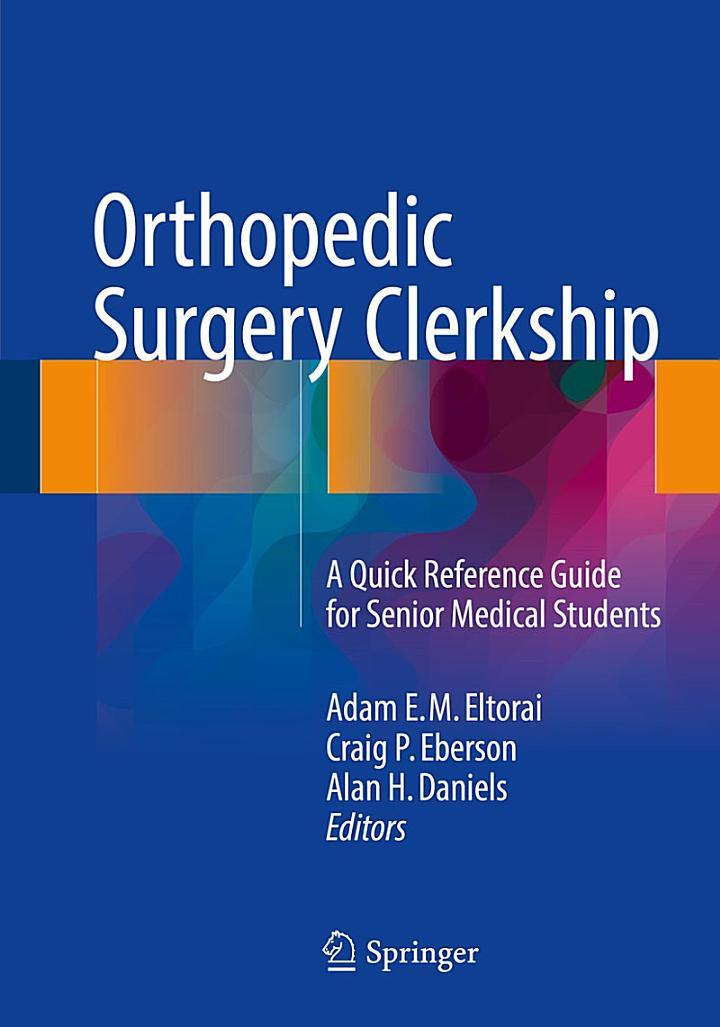 Orthopedic Surgery Clerkship