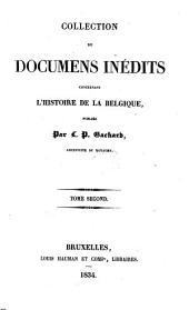Collection de Documents inedits concernant l'histoire de la Belgique: Volume2