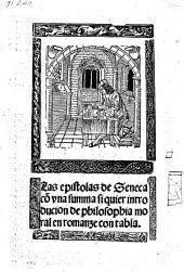 Las epistolas con vna summa siquier introducion de philosophia moral en romanze. -(Toledo 1510.)