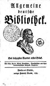 Allgemeine deutsche Bibliothek: Des sechzigsten Bandes erstes Stück - Des sechzigsten Bandes zweytes Stück, Band 60