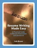 Resume Writing Made Easy