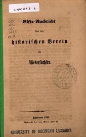 Nachricht über den Historischen Verein für Niedersachsen: Ausgabe 11