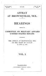 Affray at Brownsville, Tex