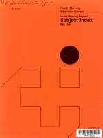 Health planning reports subject index PDF