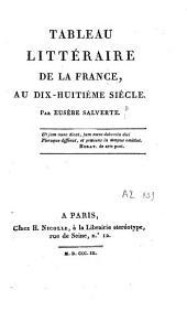 Tableau littéraire de la France, au dix-huitième siècle