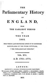 The Parliamentary History of England from the Earliest Period to the Year 1803: Volume 16