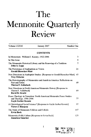 The Mennonite Quarterly Review