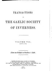 Transactions of the Gaelic Society of Inverness: Volume 7