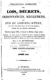 Collection complète des lois, décrets d'intérêt général, traités internationaux, arrêtés, circulaires, instructions, etc: Volume35