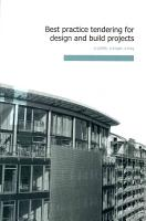 Best Practice Tendering for Design and Build Projects PDF