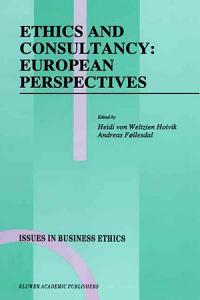 Ethics and Consultancy  European Perspectives PDF