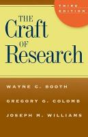The Craft of Research  Third Edition PDF