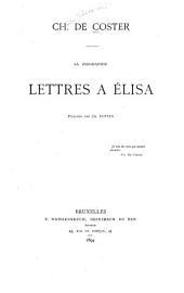 Ch. de Coster: sa biographie ; Lettres a Elisa
