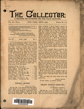 The Collector: A Monthly Magazine for Autograph and Historical Collectors, Volume 11, Issue 7