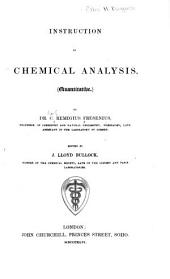 Instruction in Chemical Analysis: (Qualitative)
