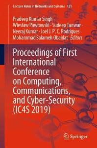 Proceedings of First International Conference on Computing  Communications  and Cyber Security  IC4S 2019  PDF