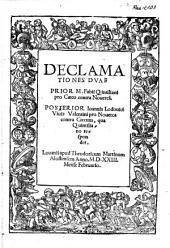 Declamationes dvae : prior M. Fabii Qintiliani pro Cæco contra Nouerca[m]. Posterior Ioannis Lodouici Viuis Valentini pro Nouerca contra Cæcum, qua Quintiliano respondet
