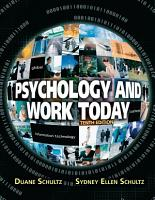 Psychology and Work Today PDF