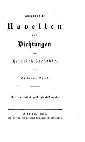 Ausgewählte Novellen und Dichtungen von Heinrich Zschokke: Band 7