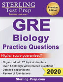 Sterling Test Prep Gre Biology Practice Questions High Yield Gre Biology Questions With Detailed Explanations Book PDF