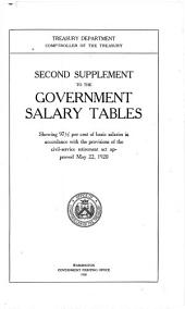 Second supplement to the Government salary tables: showing 97.5 per cent of basic salaries in accordance with the provisions of the civil-service retirement act approved May 22, 1920