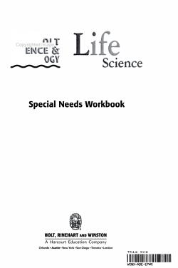 Life Science  Grade 6 Special Needs Workbook PDF