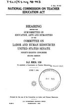 National Commission on Teacher Education Act PDF
