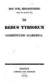 De rebus Tyriorum