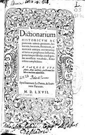 Dictionarium historicum ac poeticum: omnia gentium, hominum, locorum