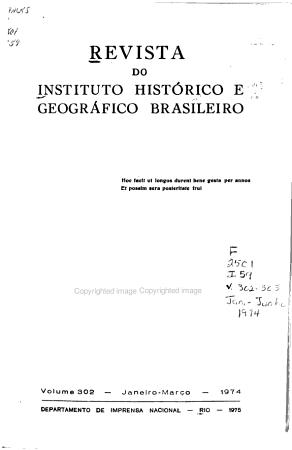 Revista do Instituto Hist  rico e Geogr  fico Brasileiro PDF