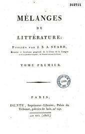 Mélanges de littérature: Volume2