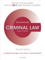Criminal Law Concentrate PDF