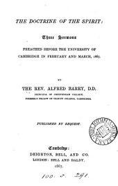 The doctrine of the spirit, 3 sermons
