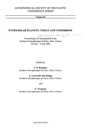 Extrasolar Planets PDF