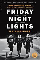Friday Night Lights  25th Anniversary Edition PDF