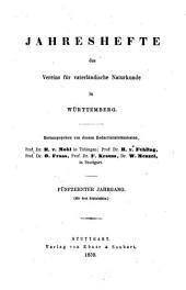 Jahreshefte des Vereins für Vaterländische Naturkunde in Württemberg: zugl. Jahrbuch d. Staatlichen Museums für Naturkunde in Stuttgart, Band 15