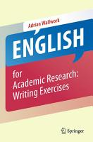 English for Academic Research  Writing Exercises PDF
