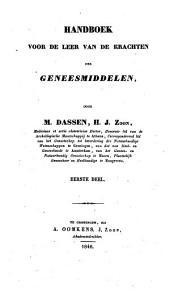 Handboek voor de leer van de krachten der geneesmiddelen: Volume 1