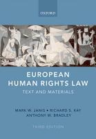 European Human Rights Law PDF