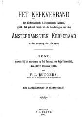 Het kerkverband der Nederlandsche Gereformeerde Kerken, gelijk dat gekend wordt uit de handelingen van den Amsterdamschen kerkeraad in den aanvang der 17e eeuw