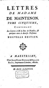 Mémoires pour servir a l'histoire de madame de Maintenon, et à celle du siecle passé: Volume11