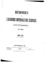 Mémoires de l'Académie impériale des sciences de Saint-Pétersbourg: Volume27